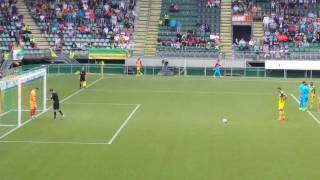 Mike Havenaar penalty miss ADO Den Haag - Heracles Almelo 1-1