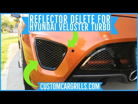 Rear Reflector Mesh Mod For Hyundai Veloster Turbo by customcargrills.com
