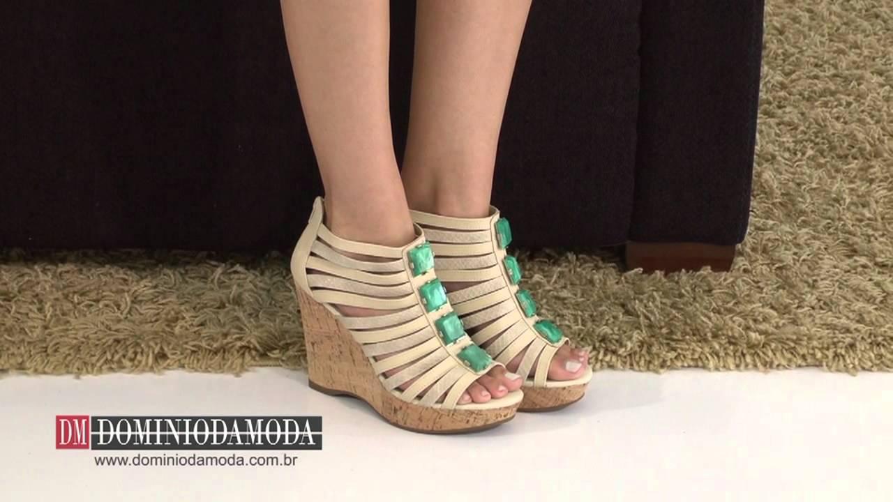 45dc988b8a Sandália Anabela Bebecê Bege 895212 NFP - Loja Calçados Femininos Online  Domínio da Moda - YouTube