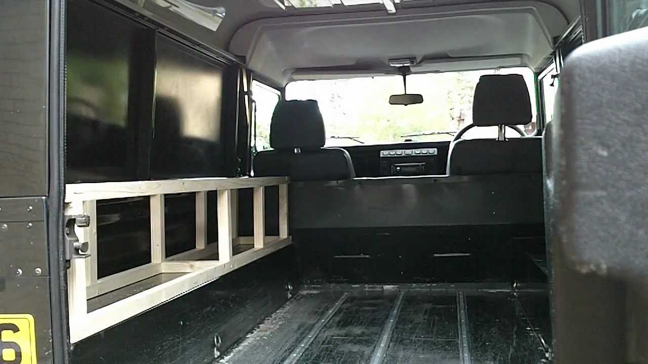 Landrover Conversion Fit Out To Campervan Youtube