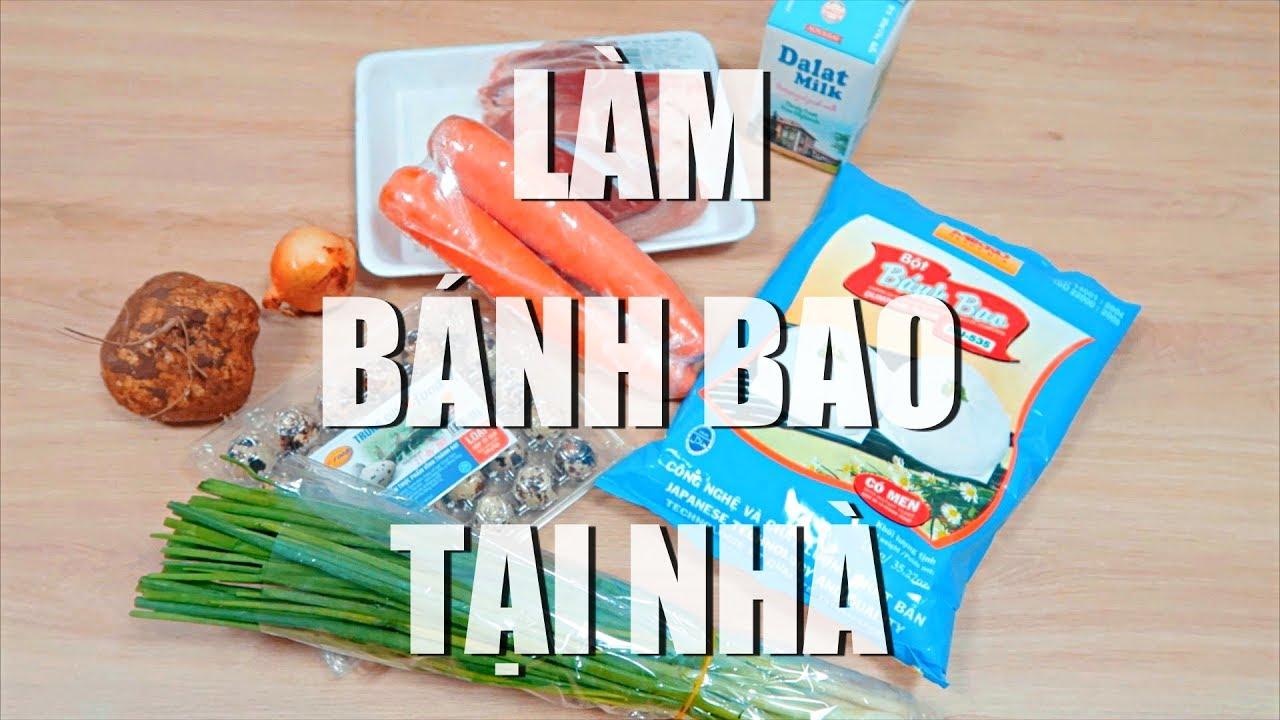 Thử Làm Bánh Bao Tại Nhà   I Tried To Make Vietnamese Steamed Buns At Home   Truc Thanh HT Vlog