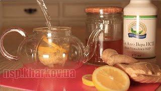 Чай с имбирем, лимоном, медом и соком алоэ вера - напиток для похудения