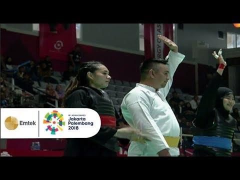 Pencak Silat Putri Indonesia Kalahkan Kontingen Singapura    Gelora Asian Games 2018