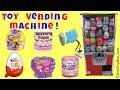 Toy Vending Machine Surprises Kinder Joy Egg Mineez Emoji Shopkins Pumpkin 2017 Hello Kitty Fashem