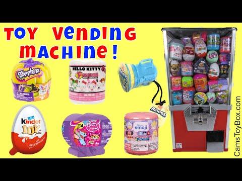 Toy Vending Machine Surprises Kinder Joy...