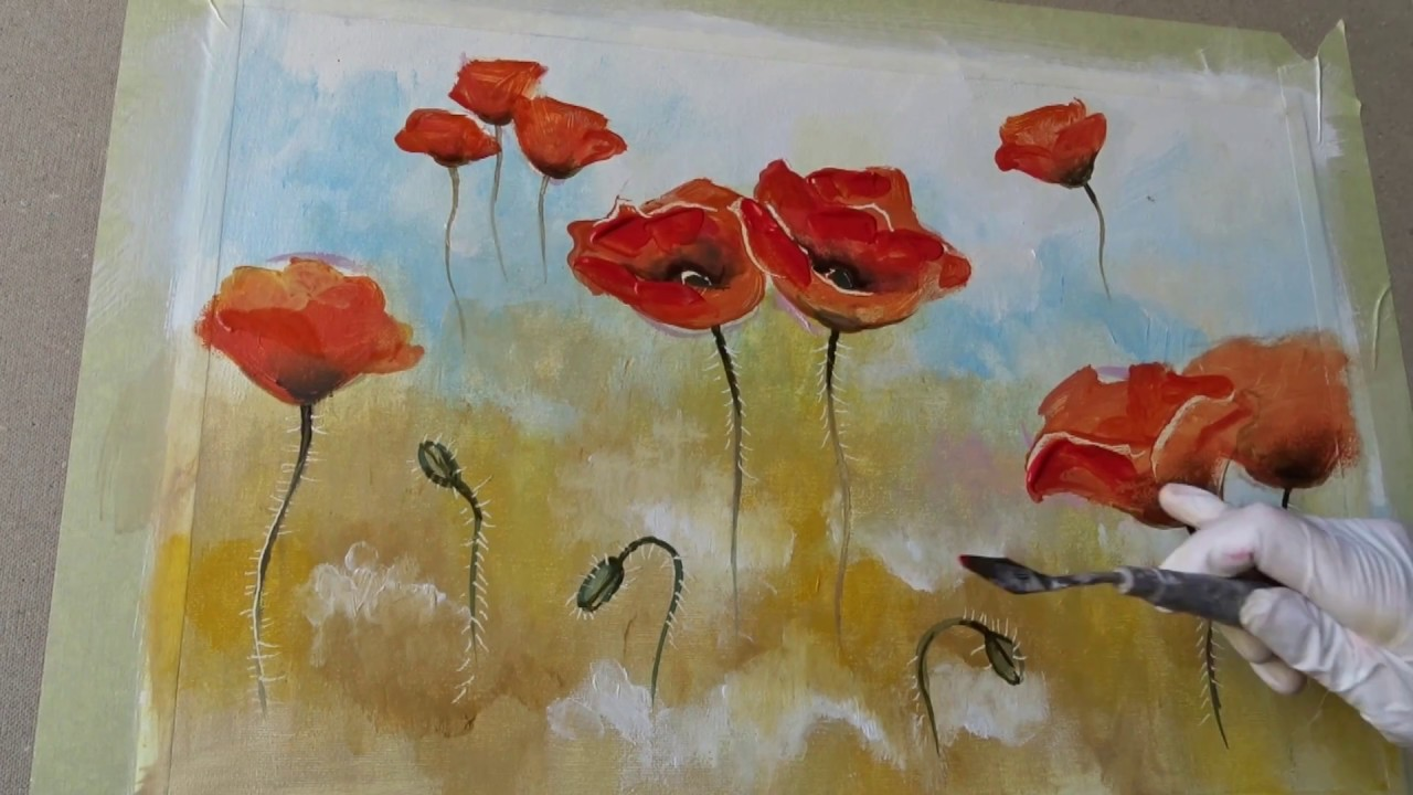 Pittura Ad Olio Tutorial How To Paint A Poppy With Oil Tutorial Come Disegnare I Papaveri Ad Olio In 3d КАК нарисовать МАКИ