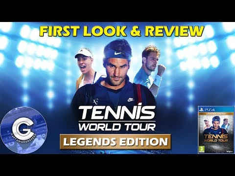 BRAND NEW TENNIS GAME | Tennis World Tour (PS4/XBOX ONE) | First Look & Review of Tennis World Tour