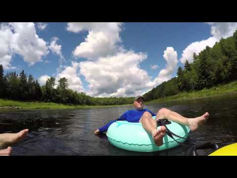 Trip to Gallan's Miramichi River Tubing Aug 6 2015 Time Lapse