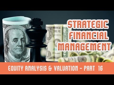 Strategic Financial Management | Equity Analysis & Valuation | XVI Exam Questions mp4