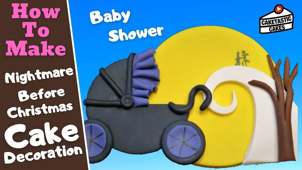Nightmare Before Christmas Baby Stroller Cake Tutorial Halloween Baby Shower Cake Decorating Video Youtube