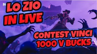 🔴 LIVE FORTNITE WITH THE TUBO UNCLE ... MORE AND US GAME - CONTEST REGALO 1000 V BUCKS