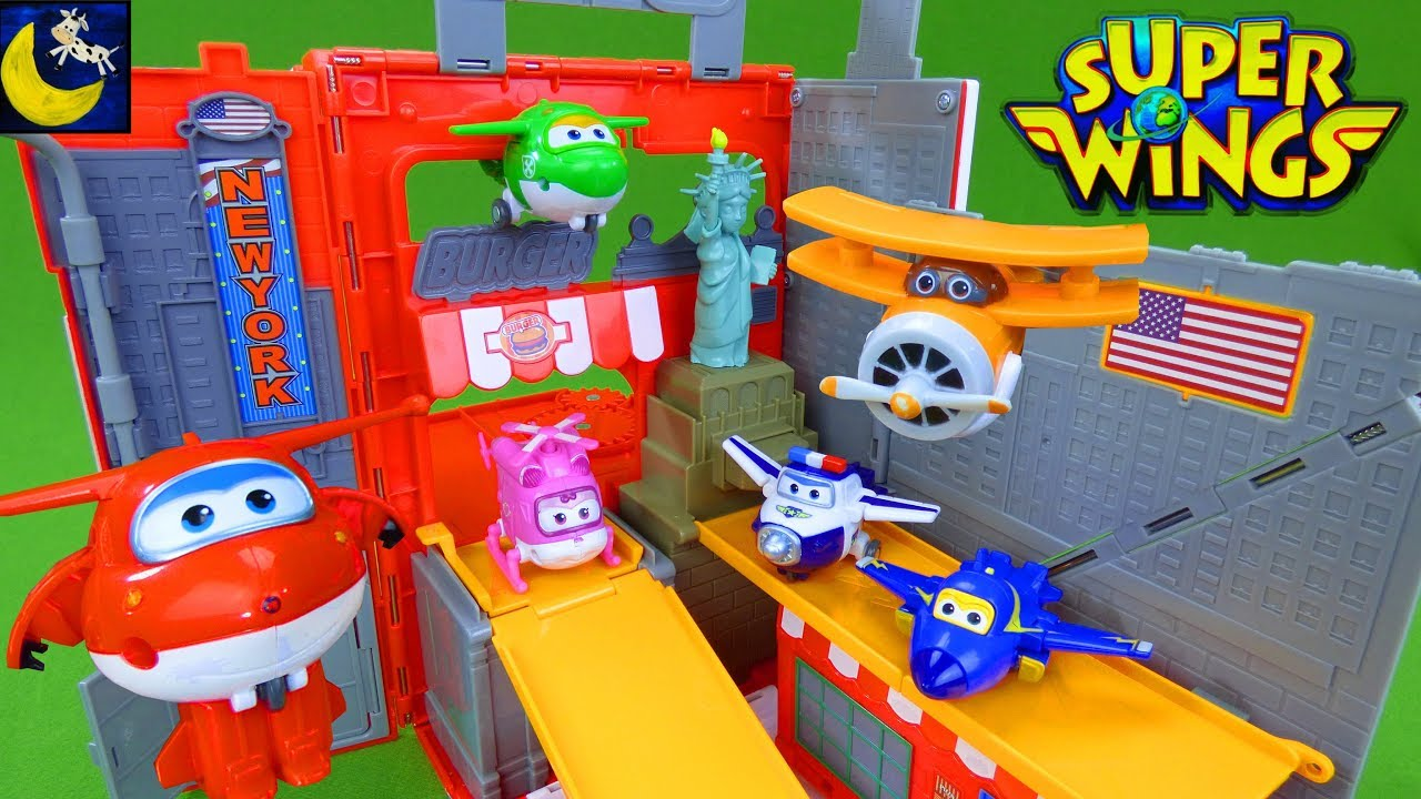 Super Wings Toys Jett New York City Pack N Go Travel