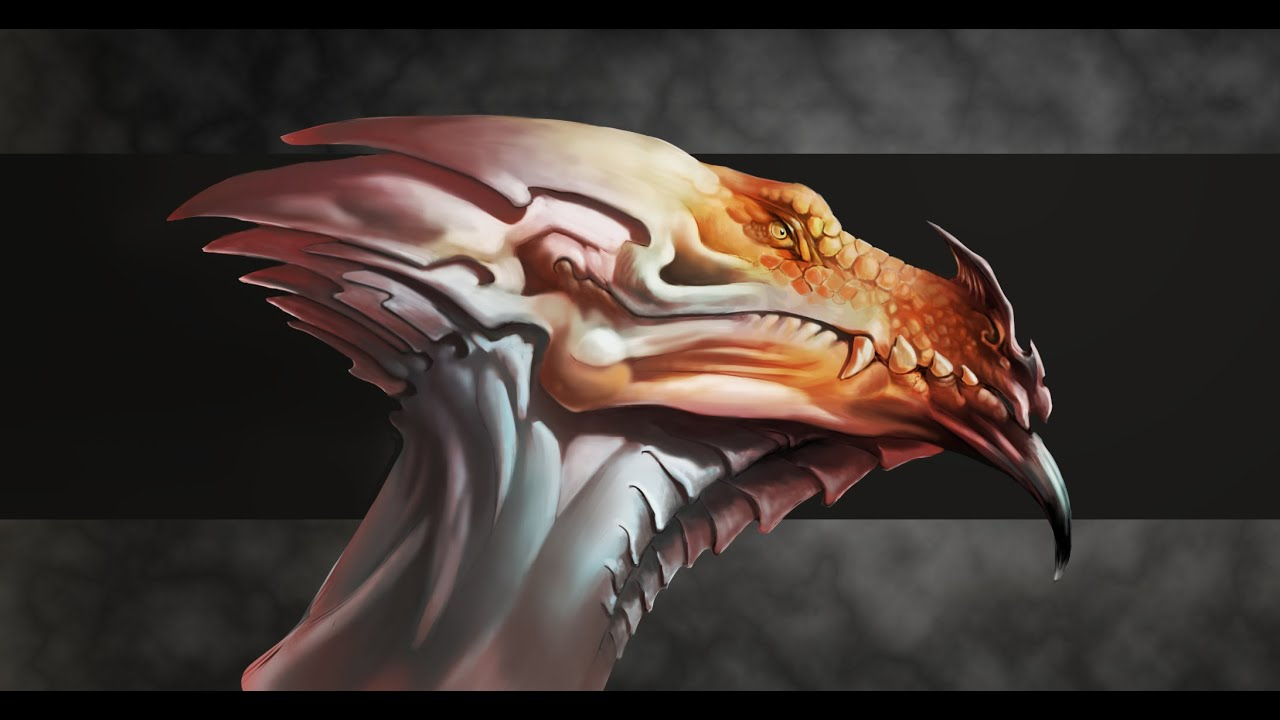 Creature Design - Dragon Head Design - YouTube