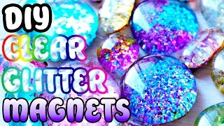DIY Clear Glitter Marble Magnets