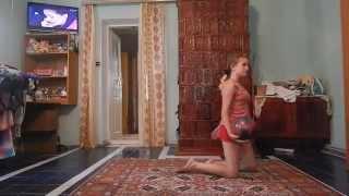 RG/ХГ гимнастика! Упражнения с мячом!))