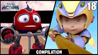 Vir: The Robot Boy & Rollbots | Compilation 17 | Action show for kids | WowKidz Action