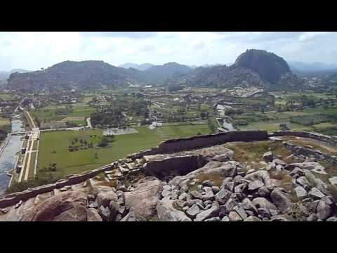 Ancient Gingee Fort B - Panorama from Peak - Tamil Nadu, India (Jan 2012)