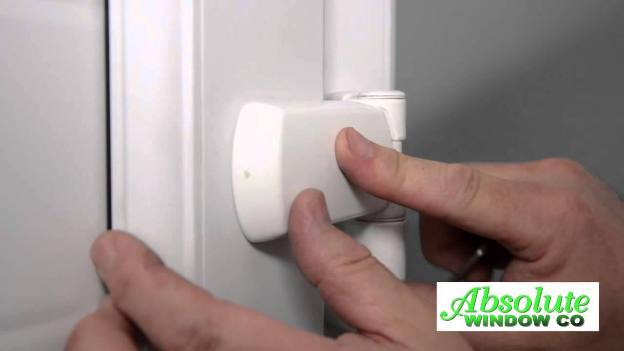 Adjusting hinge and keeps on a upvc door - YouTube
