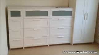 Ikea Brimnes 2 Door Wardrobe Design With Chest Of Drawers