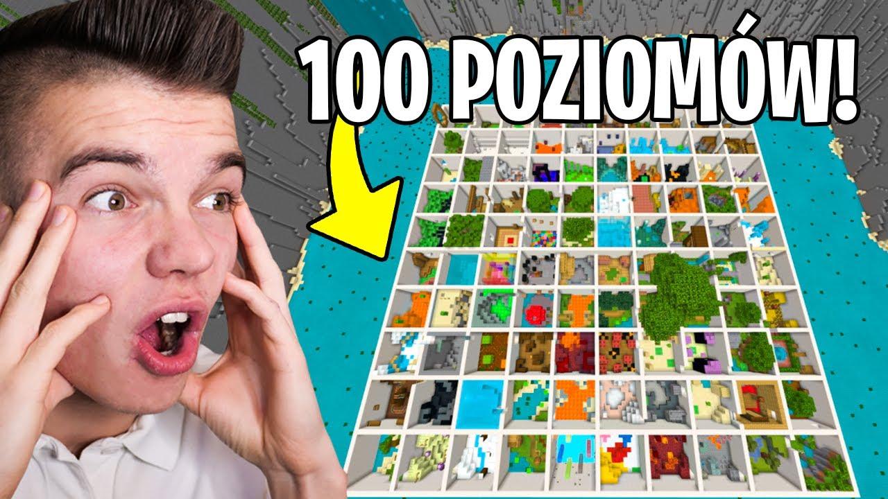 Download NAJDŁUŻSZA MAPA PARKOUR NA ŚWIECIE w Minecraft! (100 poziomów)