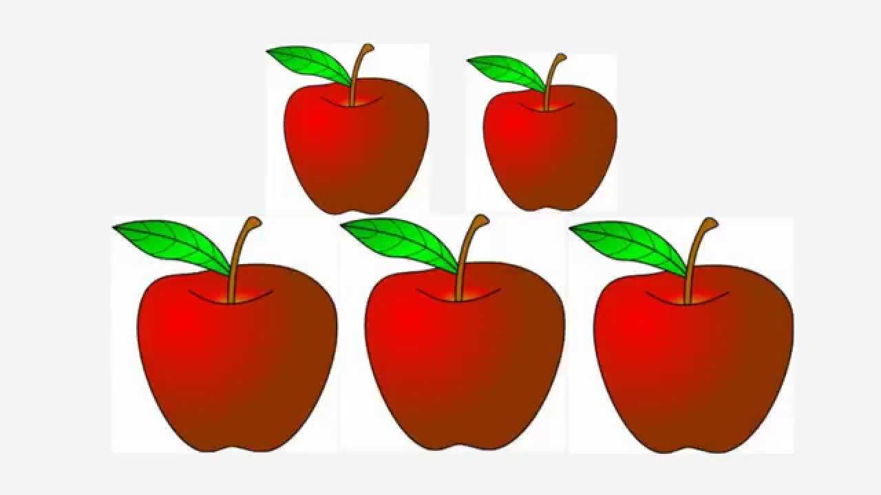 five apples height