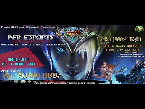[ LIVE ] Tournament Mobile Legends AFB ESports & OPI MALL 16 Maret 2018