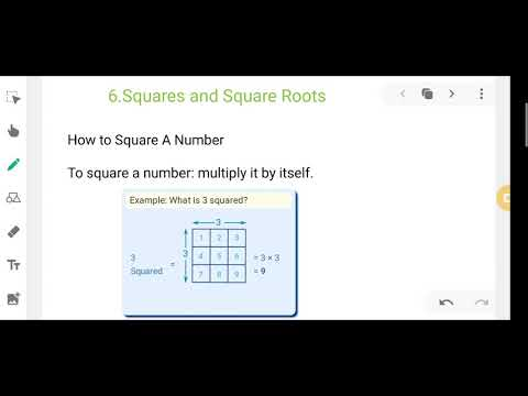 Class 8 Math 6 Square And Square Numbers Youtube