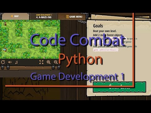 Code Combat A-maze-ing Level 4 Python Game Development Tutorial thumbnail