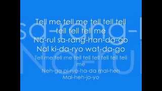 Wondergirls - Tell Me With Lyrics ♥