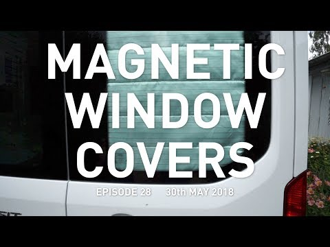 Magnetic Window Covers in a Campervan : Eat Sleep Van 28