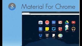 Unlock the new material design for Google Chrome
