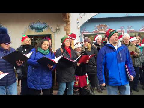 Mill Creek Chorale caroling in Leavenworth 2017 - This Little Light of Mine
