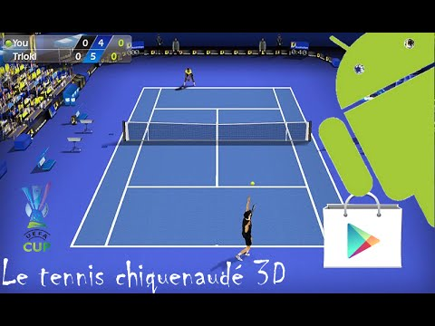 tennis chiquenaudé 3d