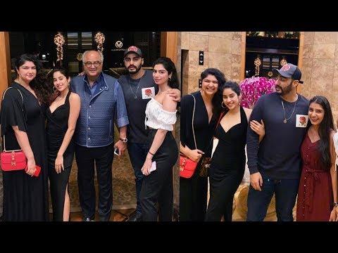 Janhvi and Khushi Kapoor enjoying new year celebrations with Arjun Kapoor and Anushala |