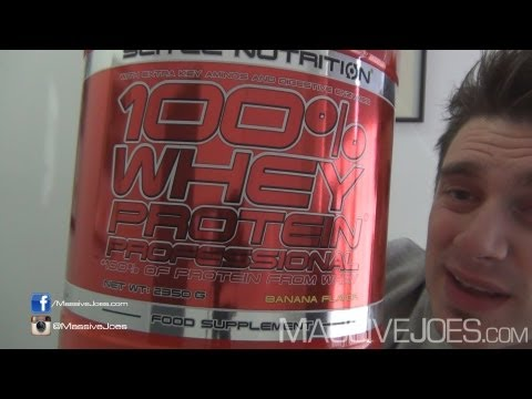 Scitec 100% Whey Protein Professional Powder Supplement Review - MassiveJoes.com RAW Review WPI