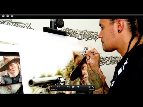 How to Airbrush Portraits - Advanced Photo Realism with Cory Saint Clair