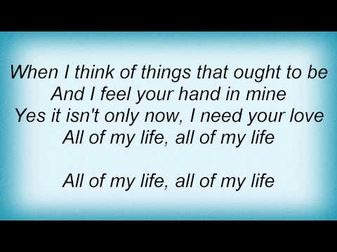 Bee Gees - All Of My Life Lyrics_1