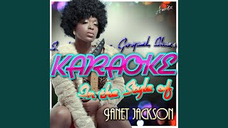 I Want You (In the Style of Janet Jackson) (Karaoke Version)