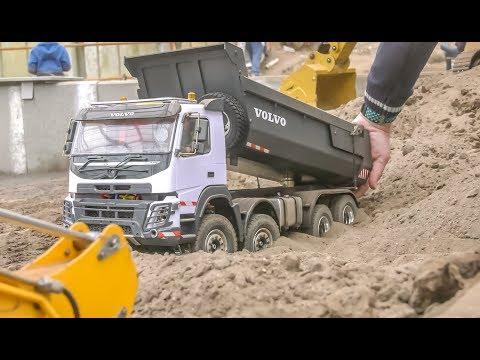 MONSTER Excavator! RC Trucks! Tractors! Truck stuck!