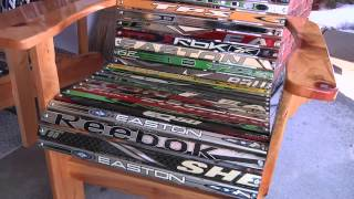 Dalton Prout's Dad Finds Special Use For Old Hockey Sticks