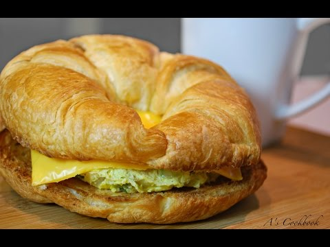 Breakfast Egg Croissant Sandwich - In Under 2 mins