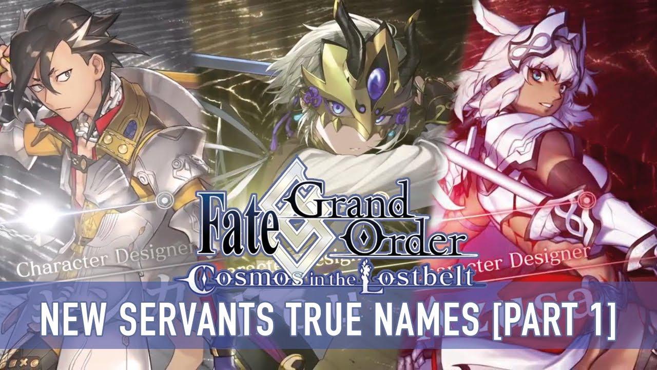 Fate/Grand Order Cosmos in the Lostbelt - New Servants True Names  Prediction Part 1