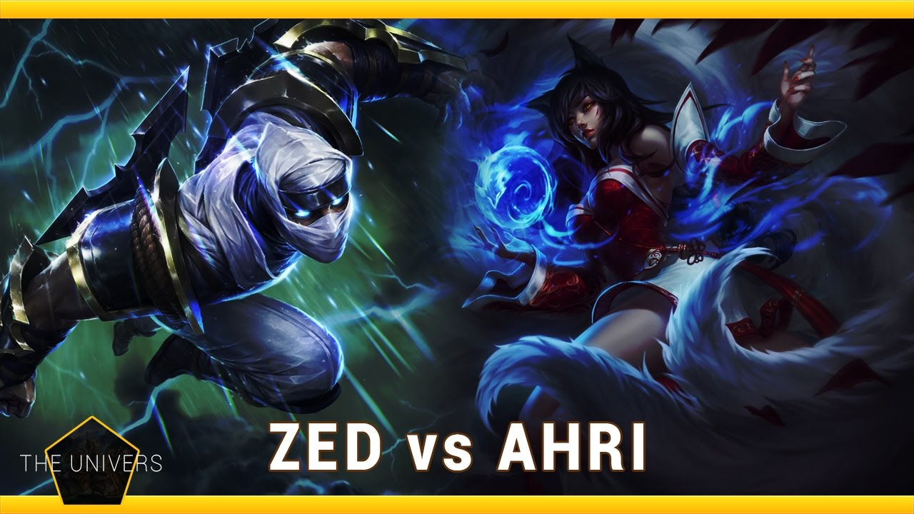 Ahri vs Zed S7 Ranked Gameplay
