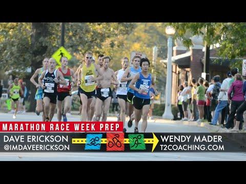 Marathon Race Week Prep