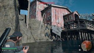 DAYS GONE フリーカーの大群製材所の大群を川に落下させる 1
