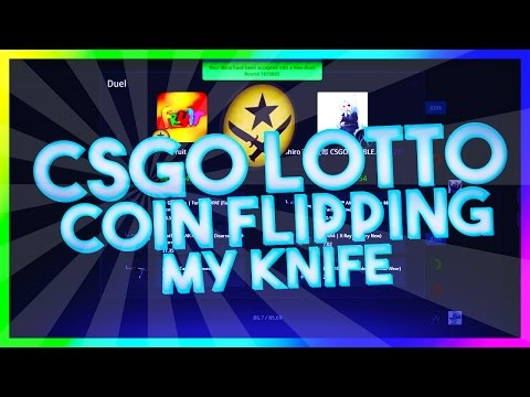 COIN FLIPPING MY KNIFE! - CSGO LOTTO BETTING