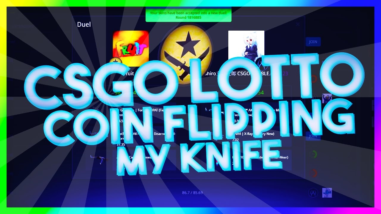 COIN FLIPPING MY KNIFE! - CSGO LOTTO BETTING - YouTube