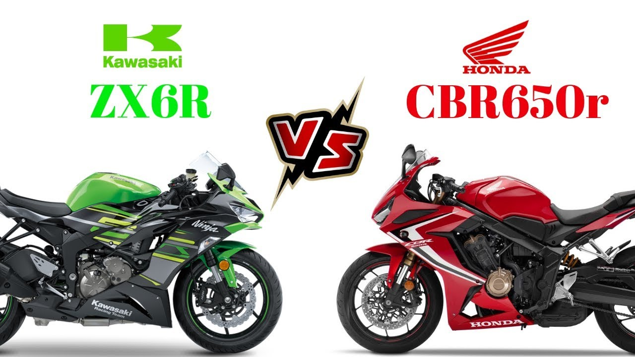 Kawasaki Zx6r Vs Honda Cbr650r 2019 Youtube