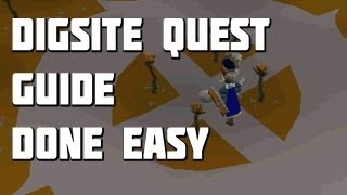 Runescape 2007 - The Dig Site Quest Guide - Quest Guides Done Easy - Framed