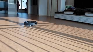 장애물이 없을때 일반적인 샤오미 E35 로봇청소기의 청…